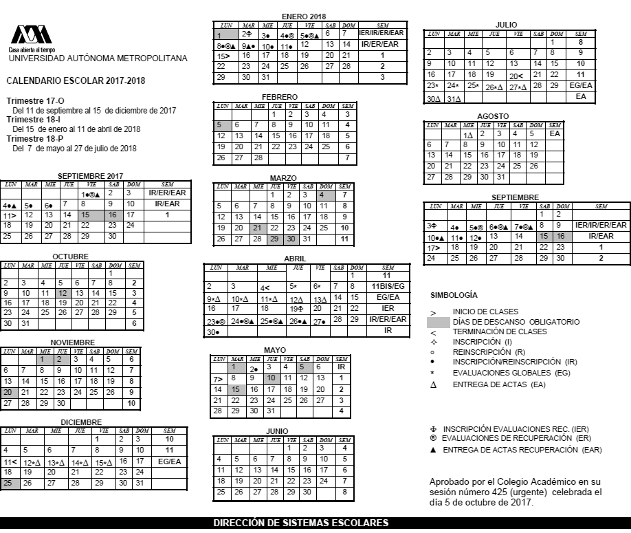 Calendario Examenes Derecho Us.Uam Calendario Examenes Watershowspeakers